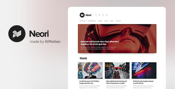 Neori - News and Magazine WordPress Theme - News / Editorial Blog / Magazine