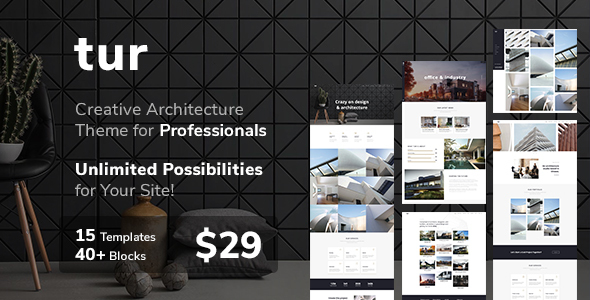 Tur - Architecture WordPress Free Download | Nulled