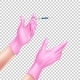 Vector Realistic Nurse Hand in Gloves with Syringe - GraphicRiver Item for Sale