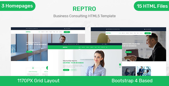 Reptro - Business Consulting HTML5 Template Free Download | Nulled