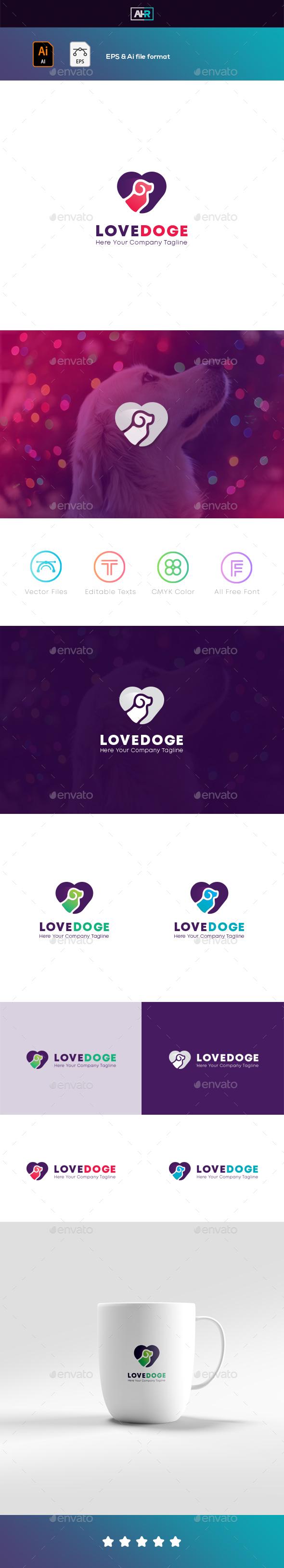 DOG / LOVEDOGE LOGO - Animals Logo Templates