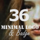 36 Minimal Logo and Badges - GraphicRiver Item for Sale