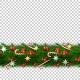 Vector Christmas Border with Berry Star Candy - GraphicRiver Item for Sale