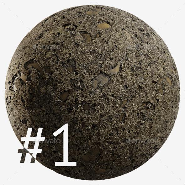 Cracked Asphalt #1 4K - 3DOcean Item for Sale