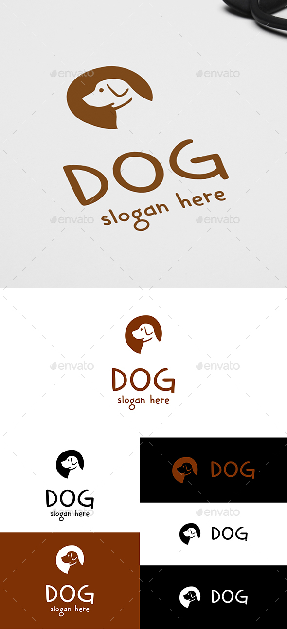 Dog Head Logo - Animals Logo Templates