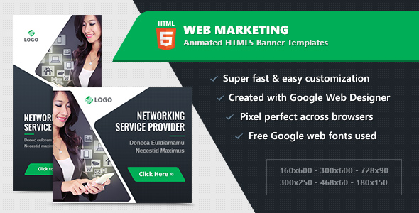 HTML5 Animated Banner Ads - Web Marketing (GWD)            Nulled