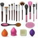 Makeup Brush Vector Professional Beauty Applicator - GraphicRiver Item for Sale