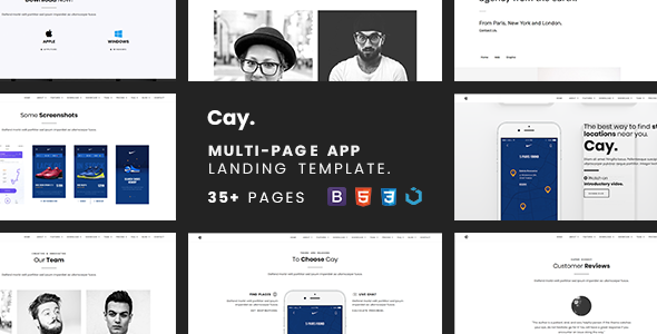 Cay — Multi-Page App Landing Template Free Download | Nulled