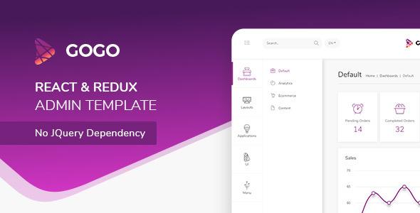Gogo - React Bootstrap 4 Admin Saas Template - Admin Templates Site Templates
