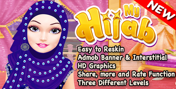 Hijab Spa Salon and Makeover Game For Kids + Admob + Ready For Publish - CodeCanyon Item for Sale