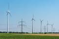 Overhead power lines and wind turbines  - PhotoDune Item for Sale