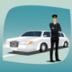 Chauffeur of Limousine - GraphicRiver Item for Sale