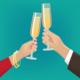 Couple Clink Glasses - GraphicRiver Item for Sale
