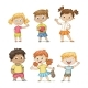 Collection of Some Children - GraphicRiver Item for Sale