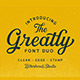 Greatly Font Duo + Logo Templates - GraphicRiver Item for Sale