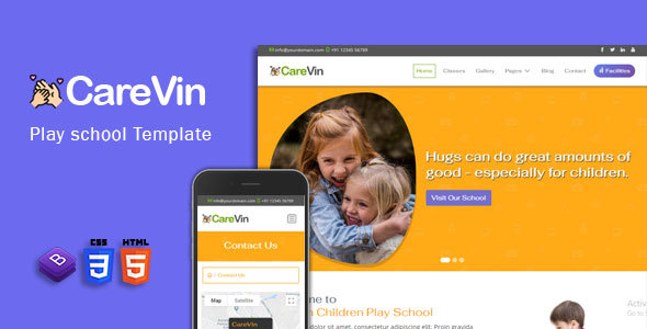 CareVin - Day care & Children School HTML Template Free Download | Nulled