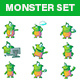 Professional Monster Set - GraphicRiver Item for Sale