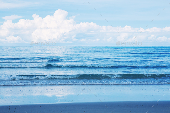blue sea with the sky - Stock Photo - Images