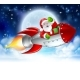 Santa Claus in Rocket Christmas Moon Cartoon - GraphicRiver Item for Sale