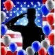 Saluting Soldier American Flag Balloon Design - GraphicRiver Item for Sale
