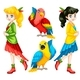 Colorful People and Birds - GraphicRiver Item for Sale