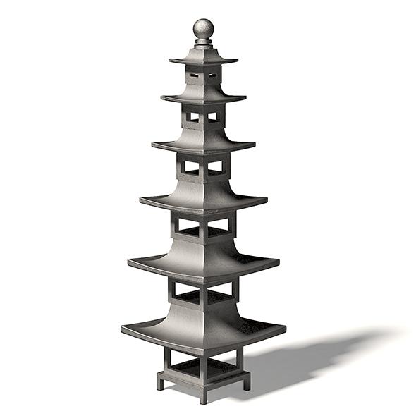 Tall Metal Bird Feeder 3D Model - 3DOcean Item for Sale