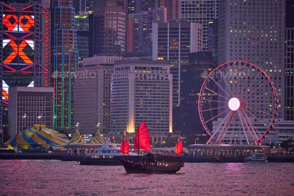 Hong Kong skyline. Hong Kong, China - Stock Photo - Images