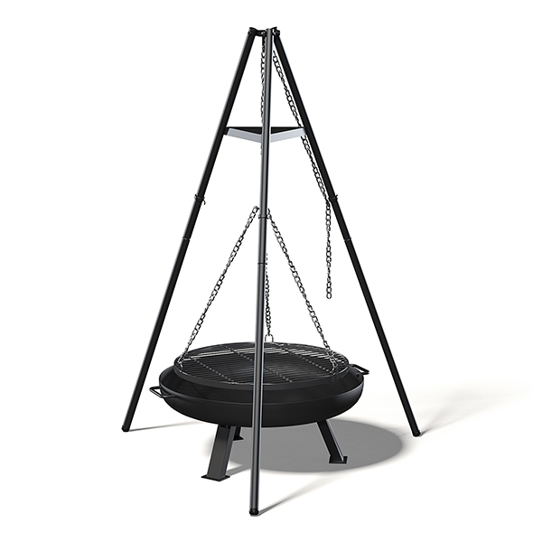 Tripod Barbecue 3D Model - 3DOcean Item for Sale