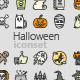 Halloween Colored Outline Icons - GraphicRiver Item for Sale