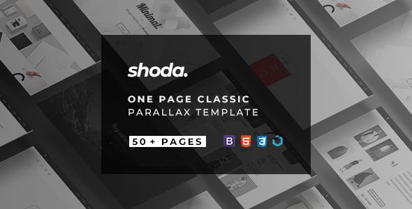 Shoda — Classic One Page Parallax - Portfolio Creative