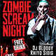 Halloween Zombie Party Flyer Template - GraphicRiver Item for Sale
