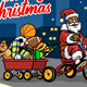 Santa Claus Bring Wagon Full of Christmas Gifts - GraphicRiver Item for Sale
