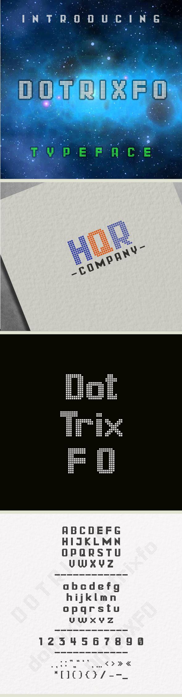 Dotrixfo Typeface - Fonts
