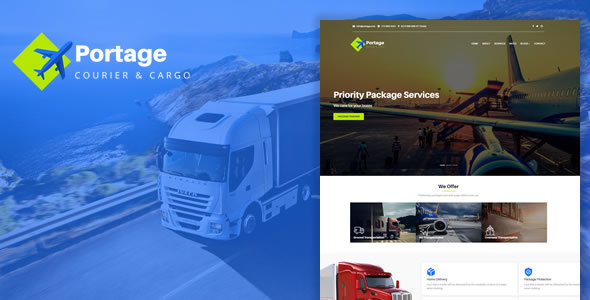 Portage - Cargo & Logistics HTML Template - Corporate Site Templates