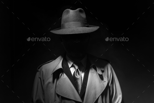 Noir movie character - Stock Photo - Images