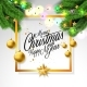 Merry Christmas Illustration on White Background - GraphicRiver Item for Sale