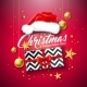 Merry Christmas Illustration with Gift Box - GraphicRiver Item for Sale