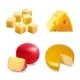 Cheese Realistic Collection Set - GraphicRiver Item for Sale