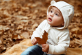 Sweet baby in autumn forest - PhotoDune Item for Sale