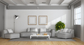 White and gray modern living room - PhotoDune Item for Sale