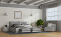 White and gray modern mastern bedroom - PhotoDune Item for Sale