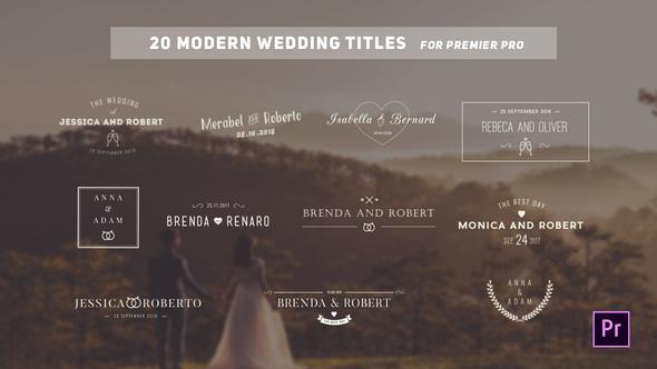 Videohive Wedding Titles 22807684