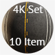 Asphalt 4K Texture set 10 items