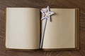 book with magic wand - PhotoDune Item for Sale