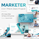 Marketer Pitch Deck 3 in 1 Bundle Powerpoint Template - GraphicRiver Item for Sale
