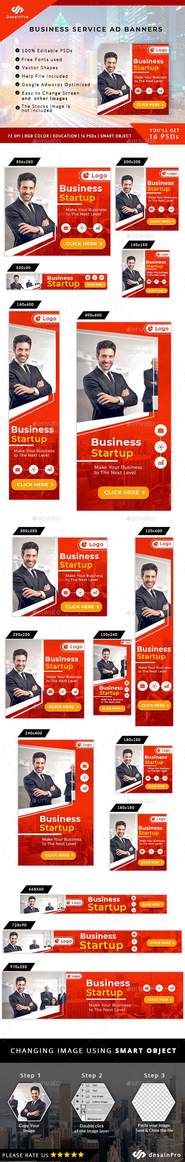 Business Solutions Ad Banners - AR - Banners & Ads Web Elements