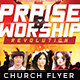 Praise & Worship - Church Flyer Template - GraphicRiver Item for Sale