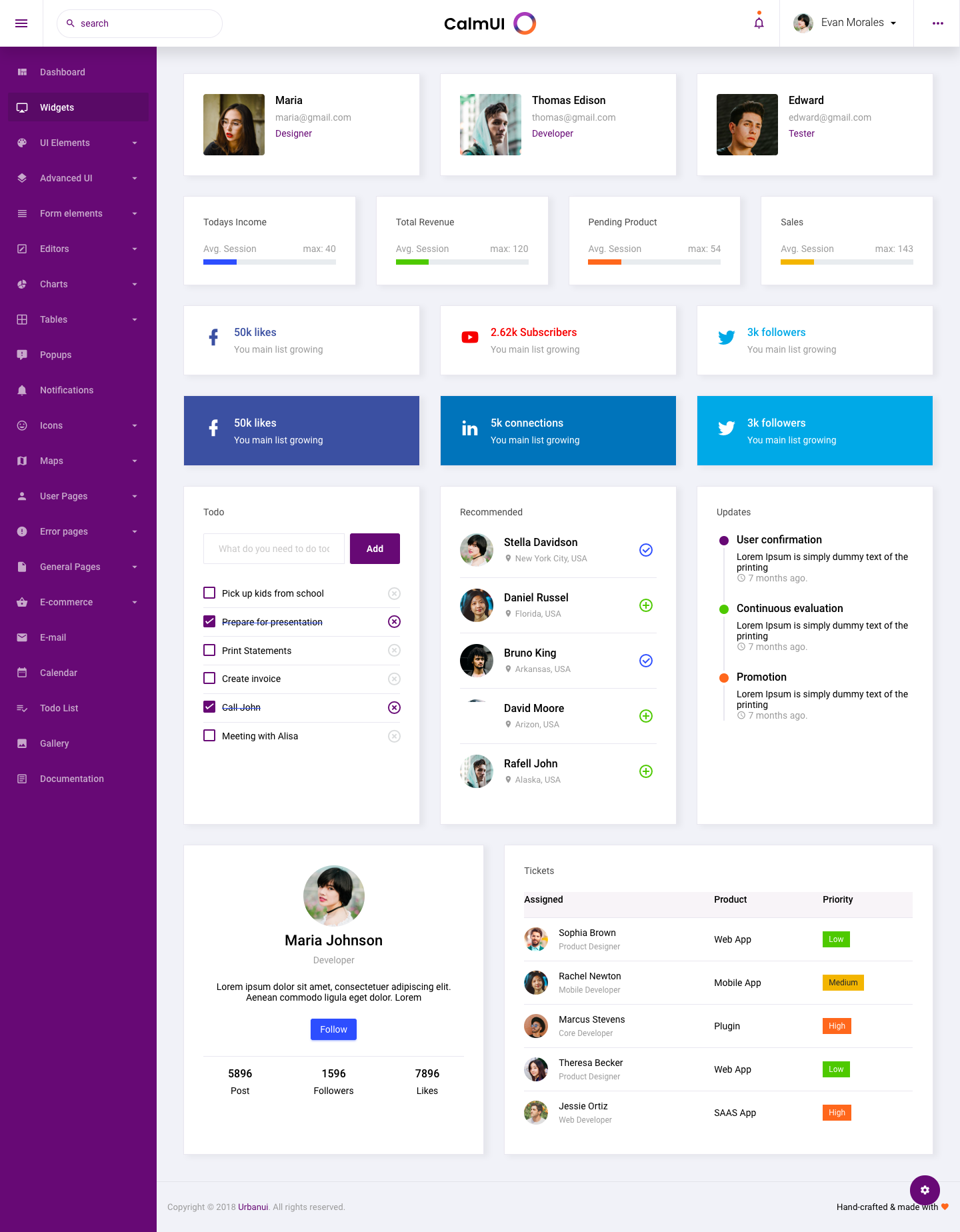 Calmui Bootstrap Admin Dashboard Template By Urbanui Themeforest
