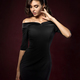Young beautiful woman wearing black evening dress - PhotoDune Item for Sale