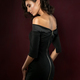 Young beautiful woman wearing black evening dress - PhotoDune Item for Sale